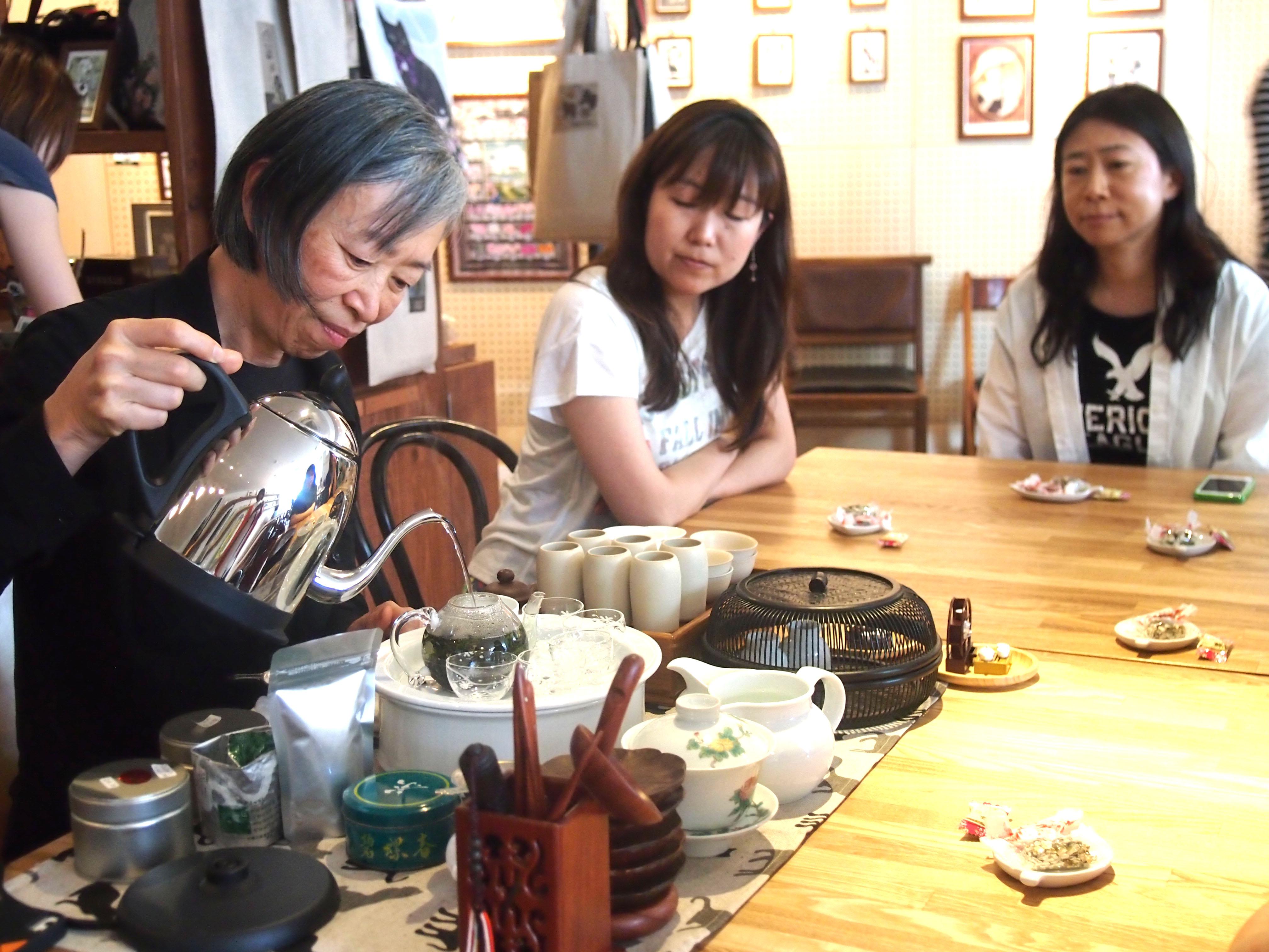 フードライターのそおだようこさんによる台湾茶の講座。